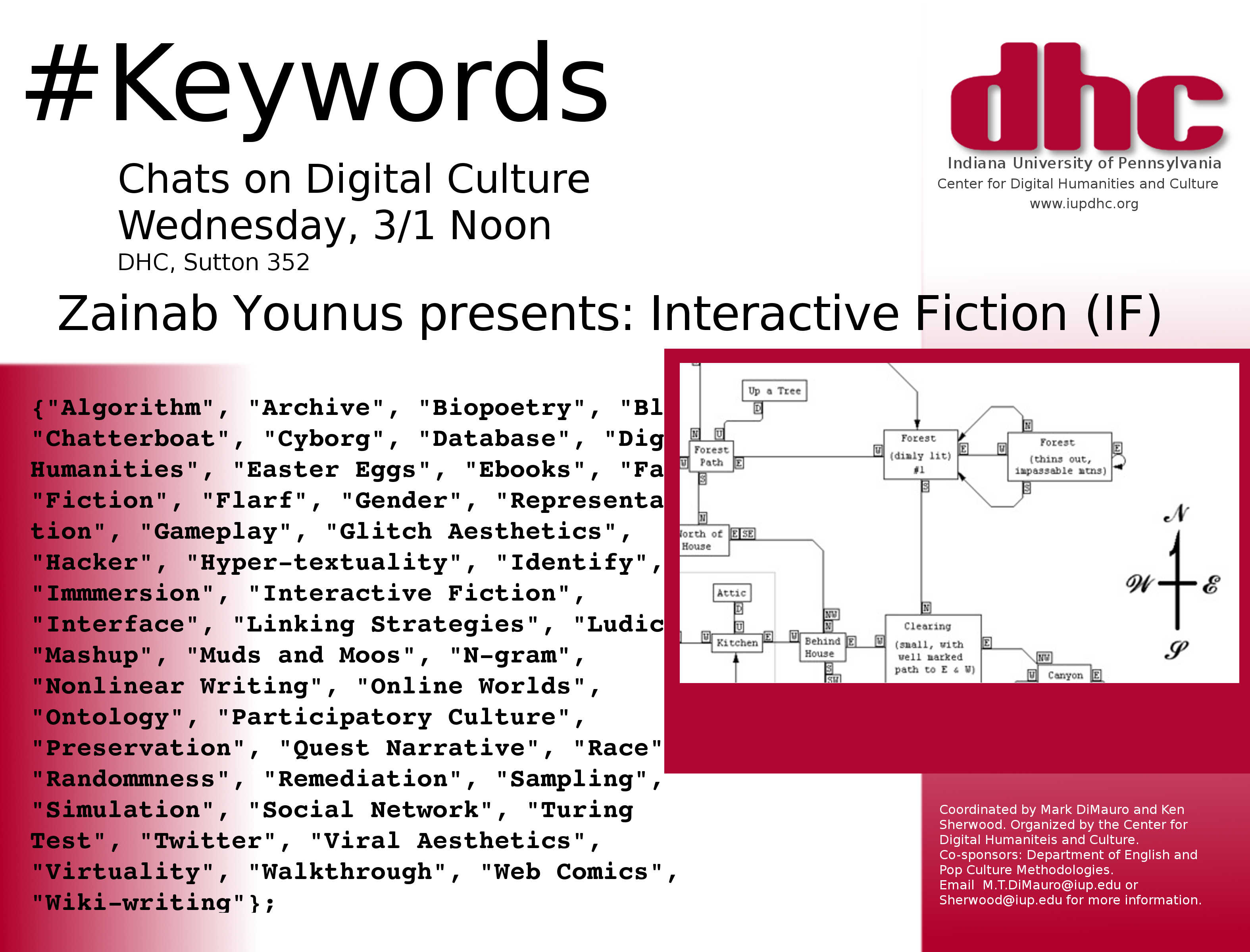 Keywords Chat – Interactive Fiction, Weds 3/1