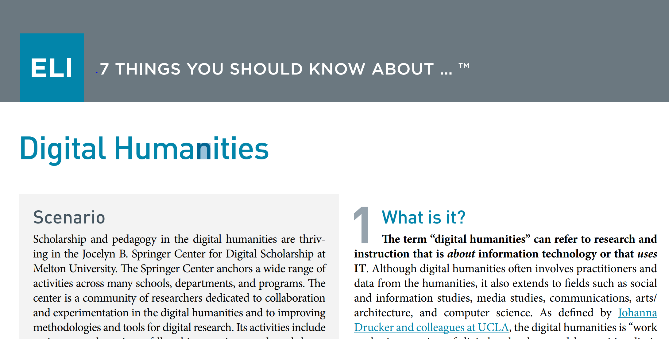 7 Things You Should Know About Digital Humanities